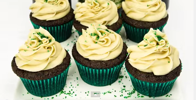 Guinness Chocolate Cupcakes With Bailey's Buttercream