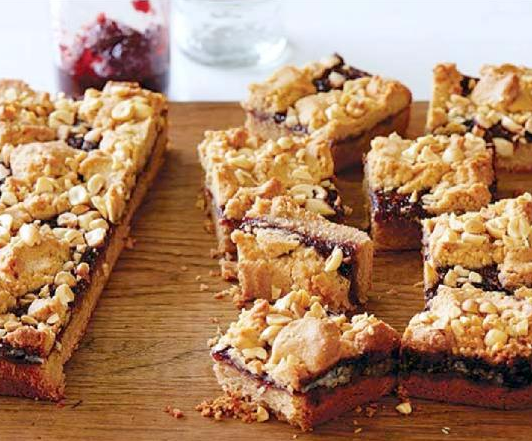 Even Children Can Help Make These Peanut Butter And Jelly Bars