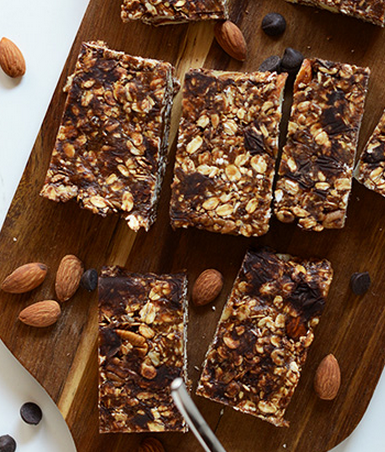 No Bake Chocolate Chips & Almond Butter Granola Bars In Which You Could Use Maranatha Almond Butter