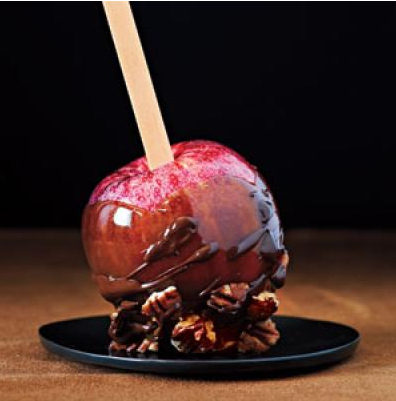 Chocolate-Toffee Apples For Halloween Fun