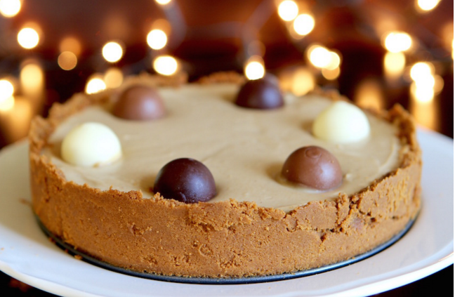 ... for a no bake biscoff cheesecake I just had to share it with you