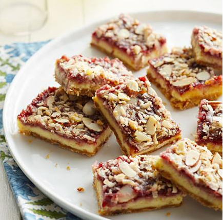 What great cheesecake bars to make that are raspberry with almond and ...