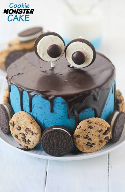 What A Fun Cookie Monster Cake