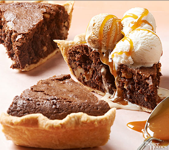 Brownie Walnut Pie