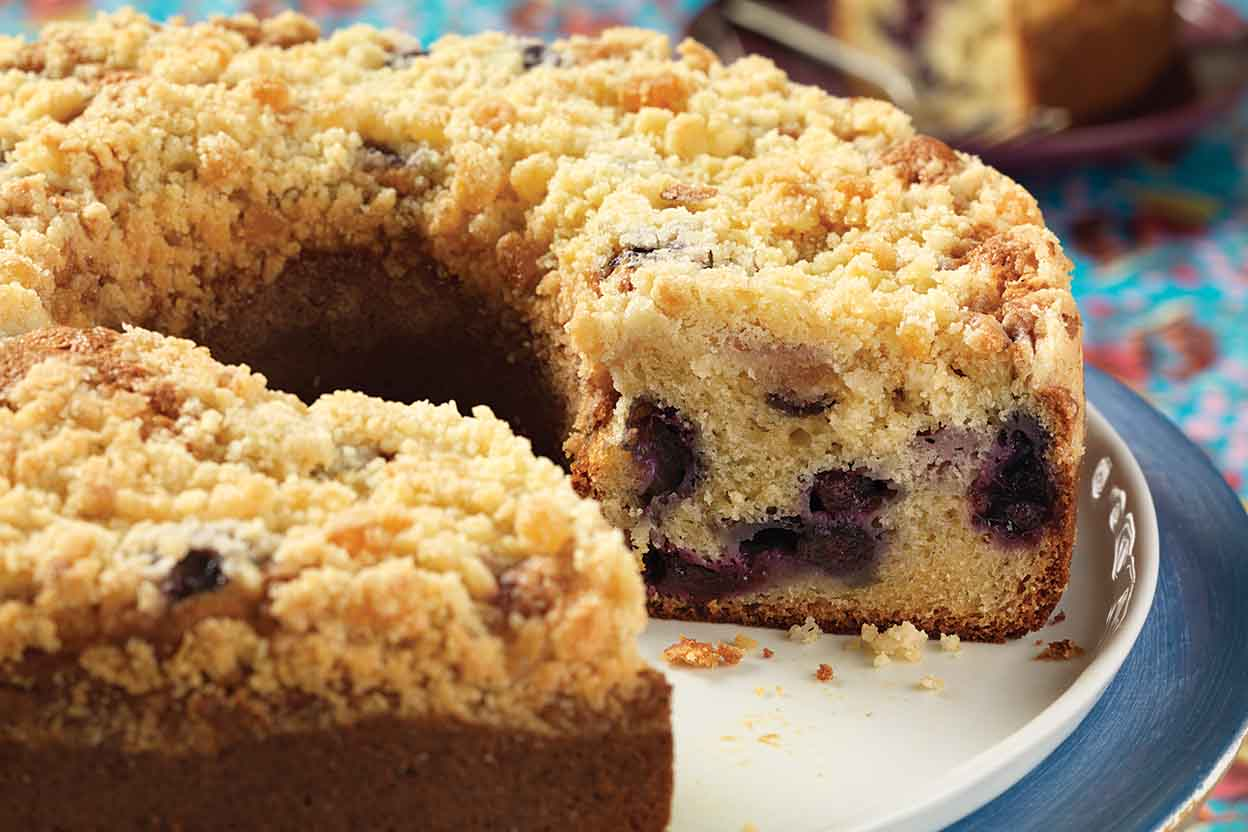 Lemon Blueberry Streusel Cake