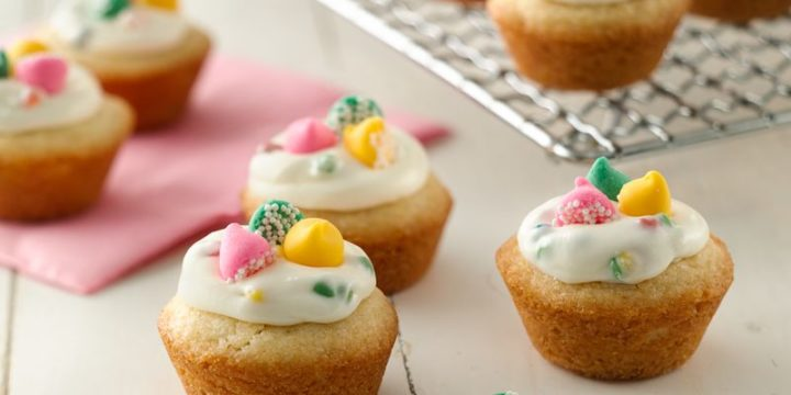 Creamy Rainbow Chip Cookie Cups