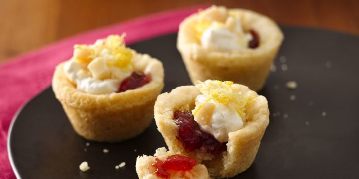 Creamy Lemon-Berry Cookie Cups