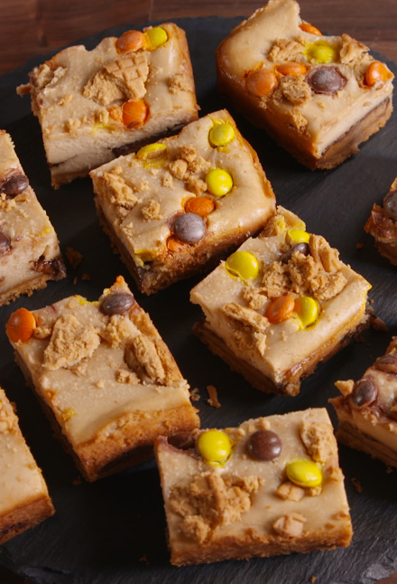 Double Reese's Cheesecake Bars