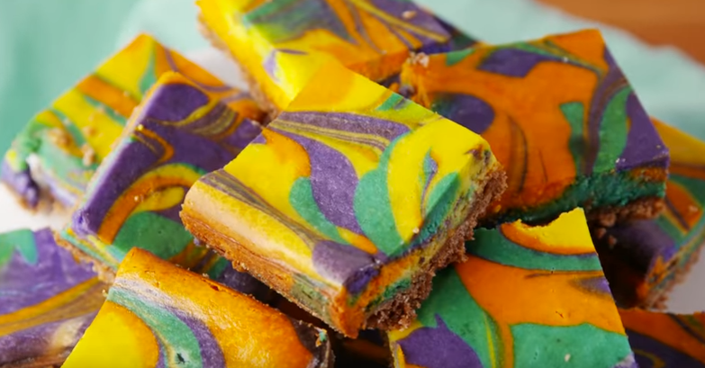 Tie Dye Cheesecake Bars