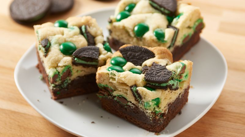 Mint Oreo M&M's Brookies