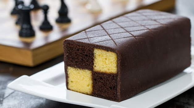 Chocolate Almond Battenberg Cake
