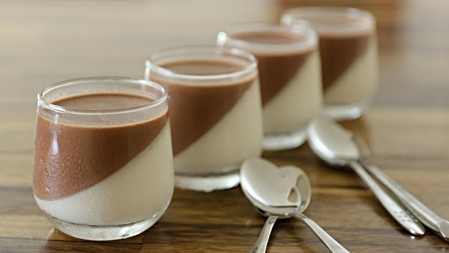 Chocolate & Vanilla Panna Cotta