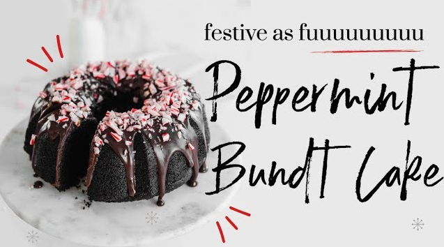 Peppermint Bundt Cake