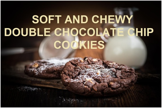 Soft And Chewy Double Chocolate Chip Cookies Recipe