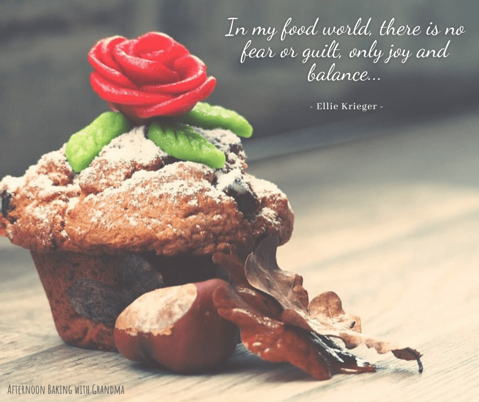 cupcake with food world quote