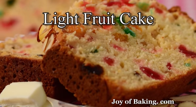 the traditional light fruit cake for afternoon tea
