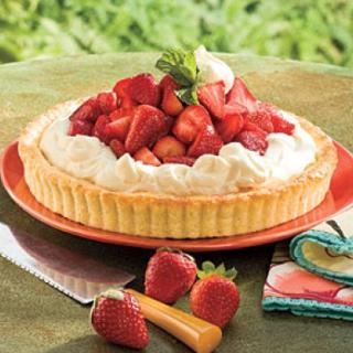 Strawberry-Orange Shortcake Tart ..A Delightful Strawberry Shortcake Recipe