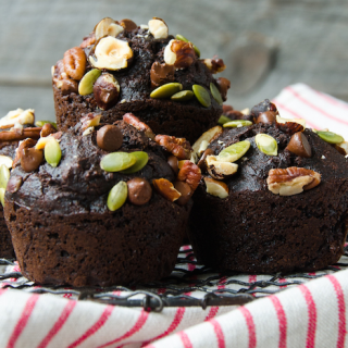 Fantastic Muffin Recipe ..Whole Wheat Chocolate Beet Muffins