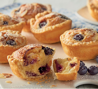 Love Our Dessert Recipes Here For You, Blueberry and Blackcurrant Mini Bakewell Tarts