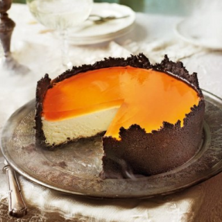 The Best Cheesecake Recipe Ever,This Orange cheesecake With Oreo Crust And Aperol Spritz