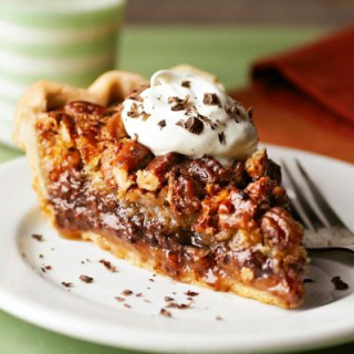 Not Just Any Chocolate Pie But A Pecan And Chocolate Millionaire's Pie