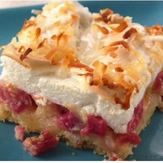 What A Heavenly Rhubarb Meringue Dessert