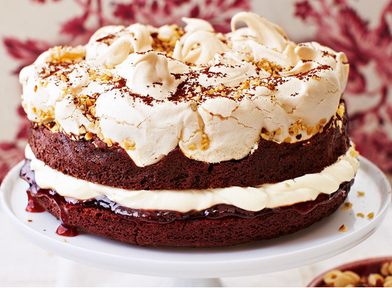 What A Delightful Meringue-Topped Brownie Cake Recipe
