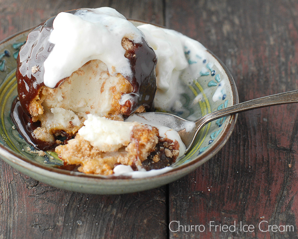 What A Dessert Is This Fantastic Churro Fried Ice Cream