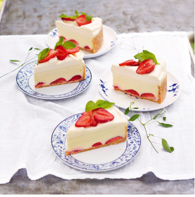 What A Divine Looking White Chocolate & Strawberry Cheesecake