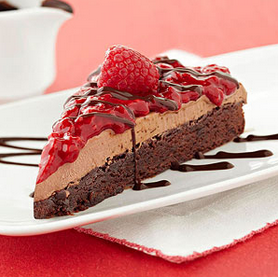 Raspberry Mocha Ice Cream Brownie Cake That Is Diabetic Friendly