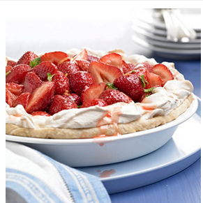 Love A Strawberry Pie This Summer ? Here Is A Strawberry Meringue pie Version
