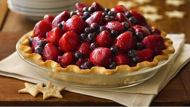 Here's To The Red, White & Blue ...Strawberry & Blueberry Pie