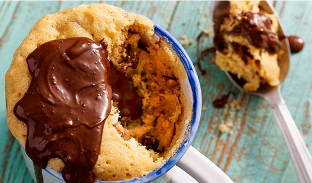 Why Not Try These Chocolate Chip Muffins In This Peanut Butter & Chocolate Chip Mug Cake Recipe