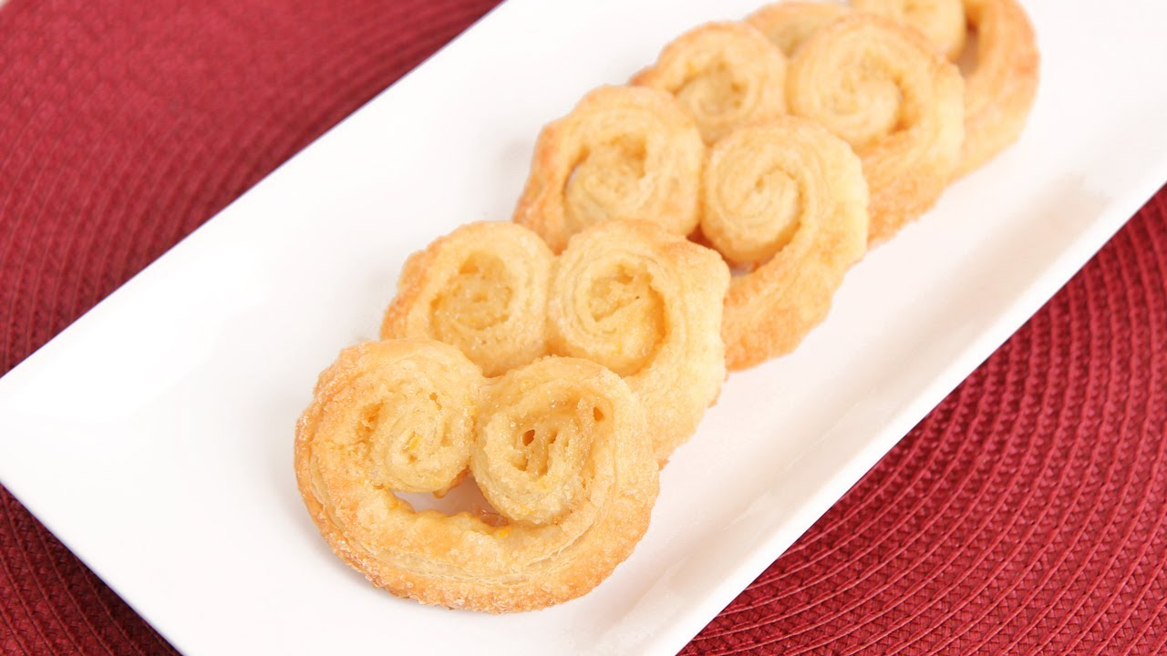 Homemade Delicious Palmiers Cookies Made With Traditional Puff Pastry