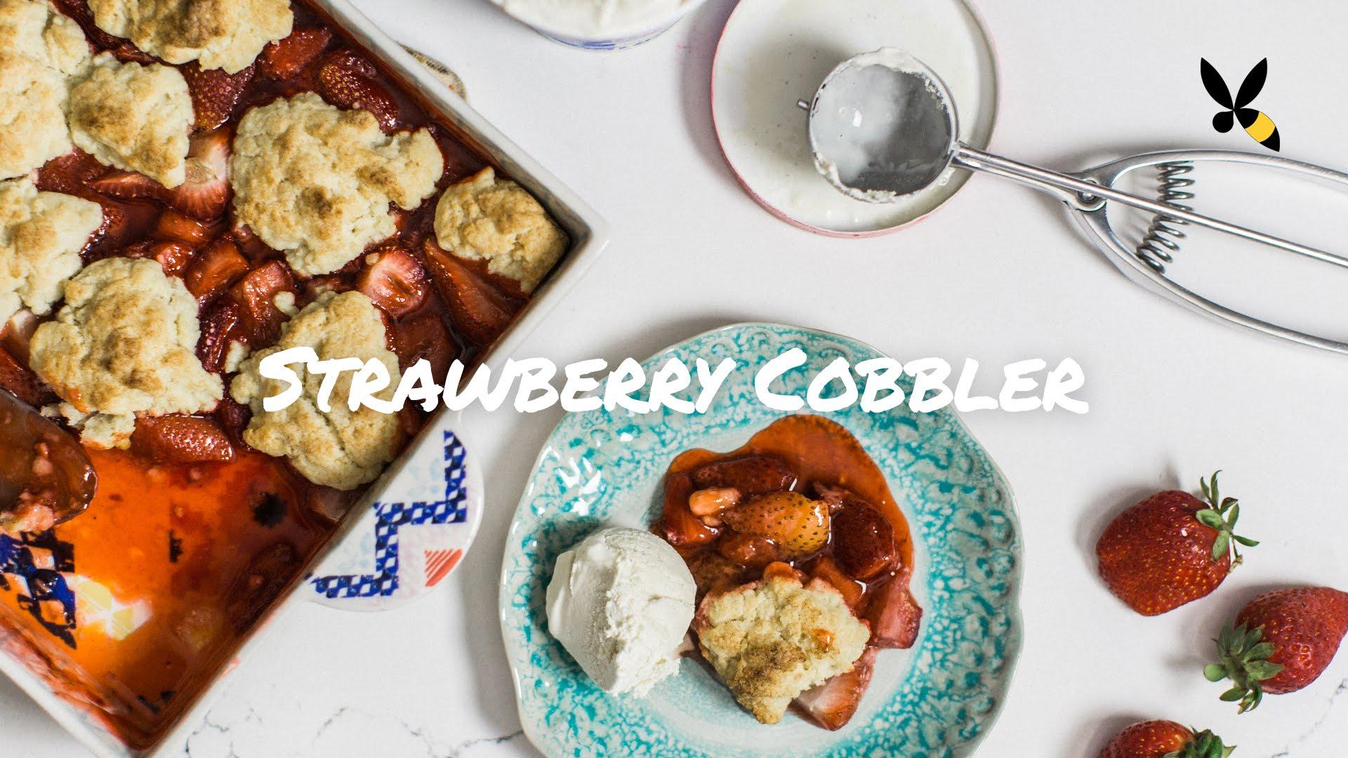 A Wonderful Strawberry Cobbler Recipe