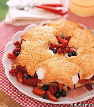 A Wonderful Star-Spangled Shortcake Recipe