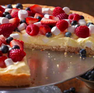 Why Not Share A Patriotic Fruit Dessert Pizza