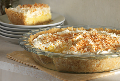 A Wonderful Tropical Coconut Cream Pie With A Coconut Cookie Crust