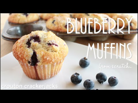 Homemade Blueberry Muffins Looking Stunning Ready To Eat