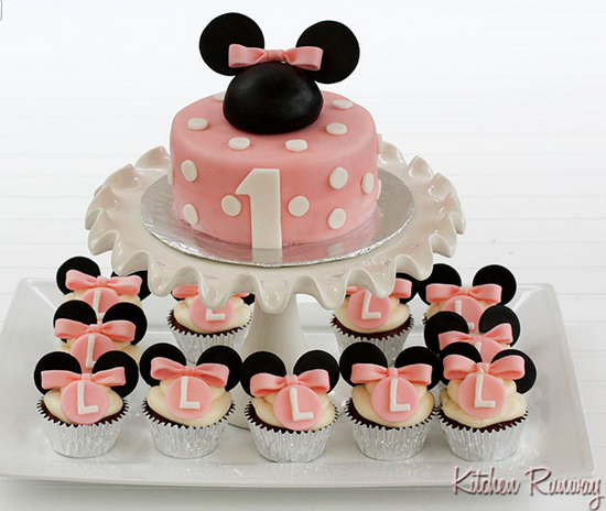 Looking For That Perfect Minnie Mouse Cake?, Well Try This One Along With CupCakes Too