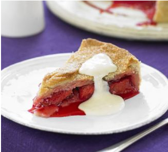 A Classic Plum Pie With Creamy Custard.. What A Treat