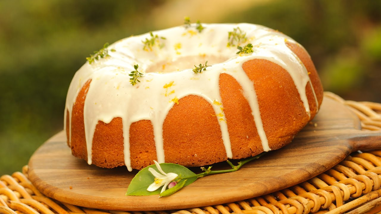 A Wonderful Pound Cake-This Is A Tantalizingly Good Looking Lemon Cake