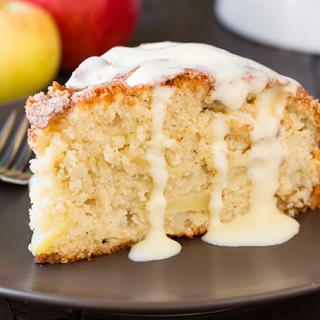 Scrumptious Irish Apple Cake Recipe with Custard Sauce