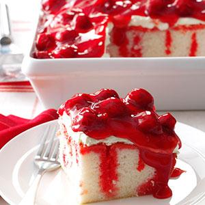 A Wonderful Cherry Cake Recipe For This Holiday Dream Poke Cake