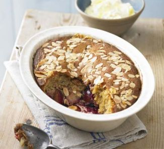 A Really Warming Dessert For This Almond & Plum Pudding
