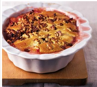 A Really Wonderful Warming Plum & Apple Cobbler