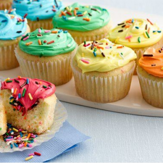 Pretty Rainbow Cupcakes With Fun Surprise Inside