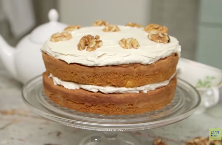 A Really Delightful Classic Recipe For Coffee & Walnut Cake