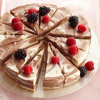 Non-Bake Swirl Chocolate Cheesecake Recipe