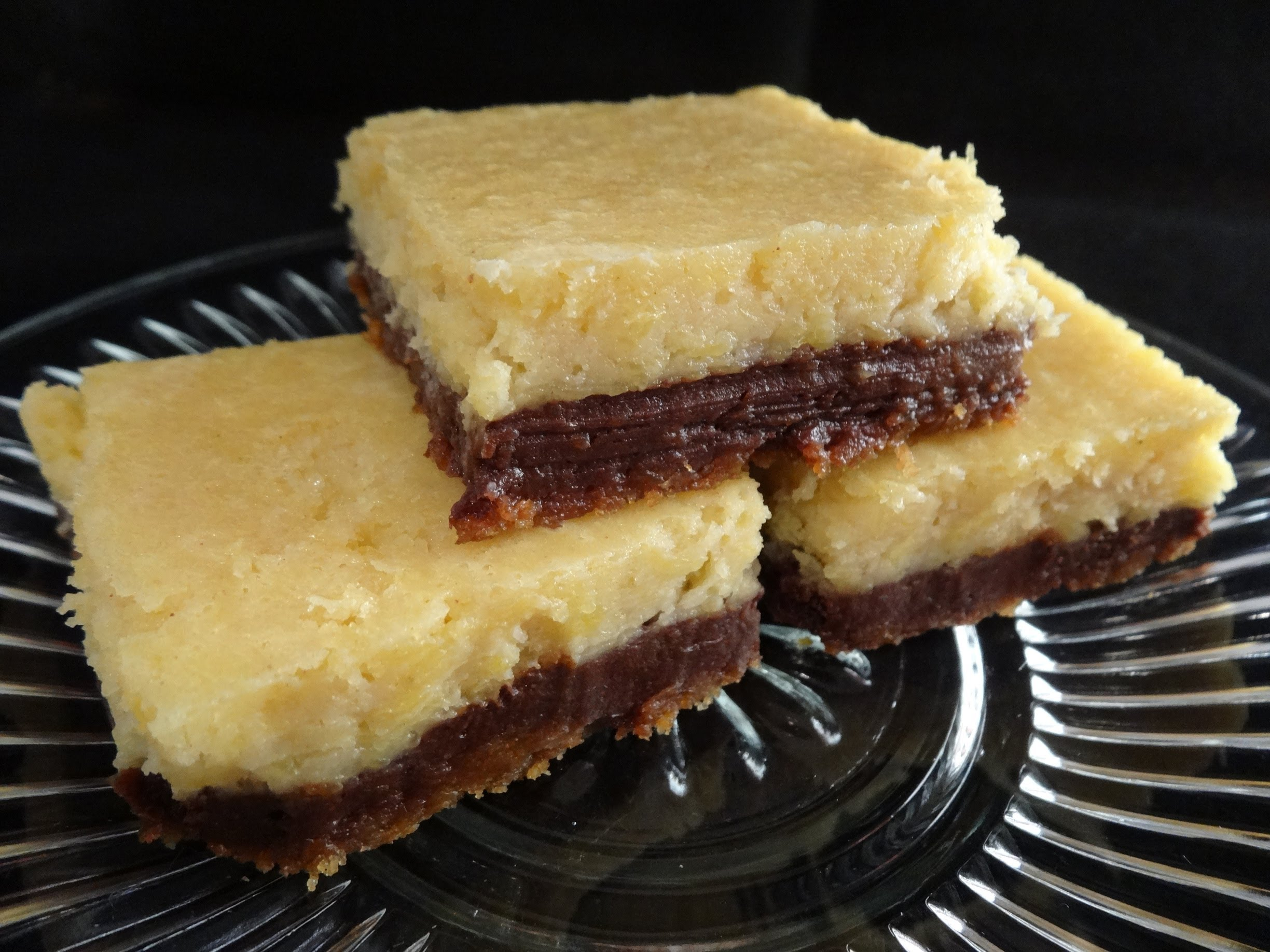 For The cheesecake Fans..Chocolate And Pumpkin Cheesecake Bars